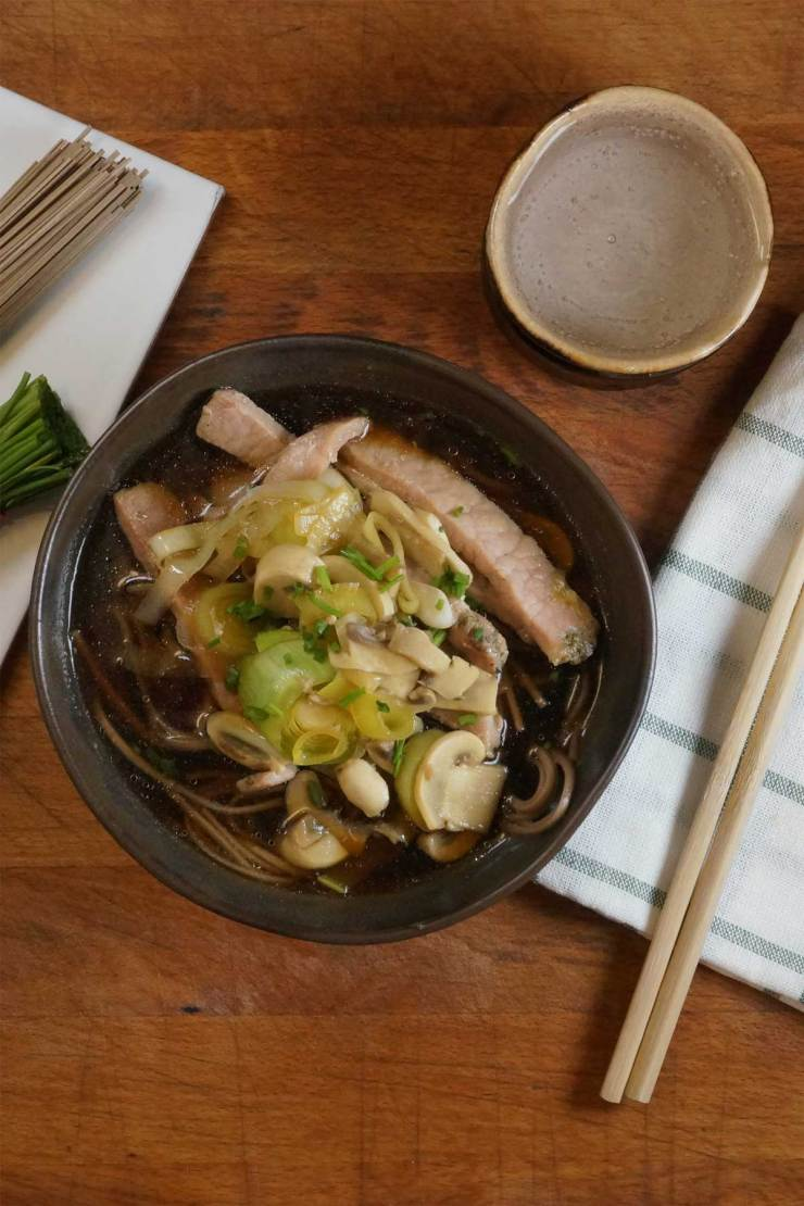 Japanese Pork Soba Noodle Soup