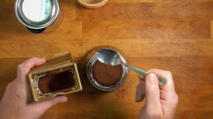 Strawberry Toast and Espresso Breakfast Making Espresso