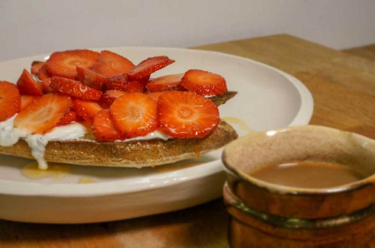 Strawberry Toast and Espresso Breakfast Finished