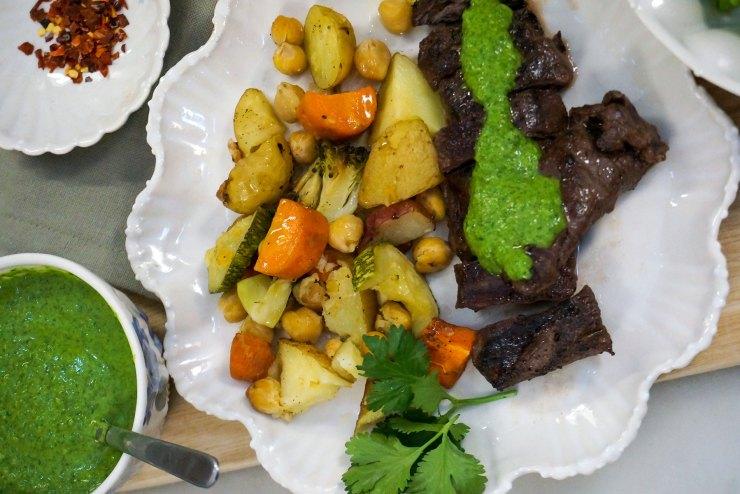 Pan seared steak with chimichurri sauce recipe