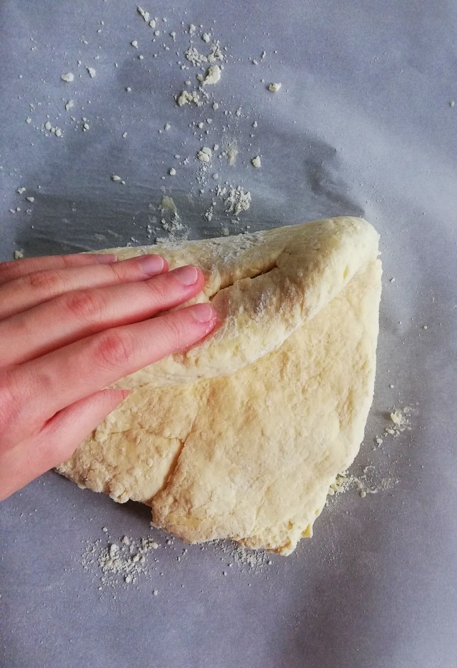 fold biscuit dough