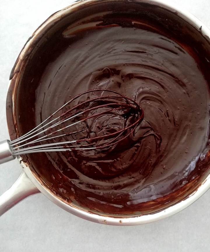 chocolate layer melted