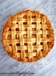 apple pie baked overhead