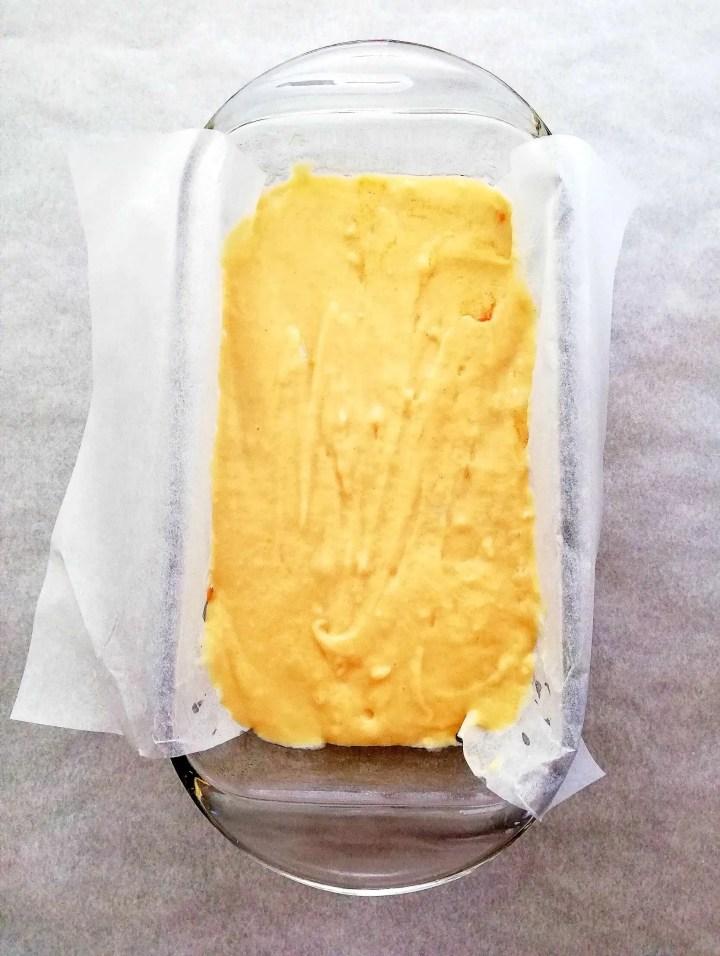 cinnamon swirl quick bread in baking dish