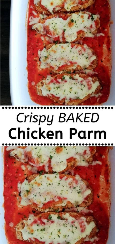 how to make crispy baked chicken parmesan