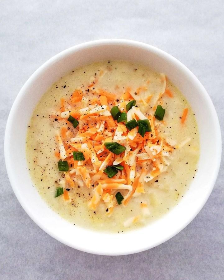 potato soup overhead