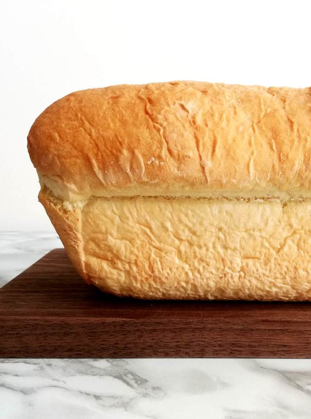 sandwich bread loaf side view head on