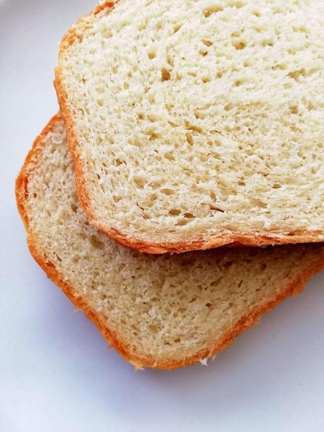 sandwich bread on plate closeup