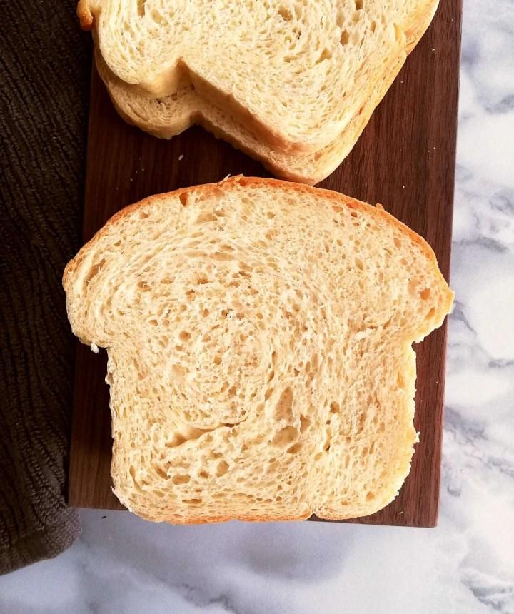 sandwich bread slice overhead