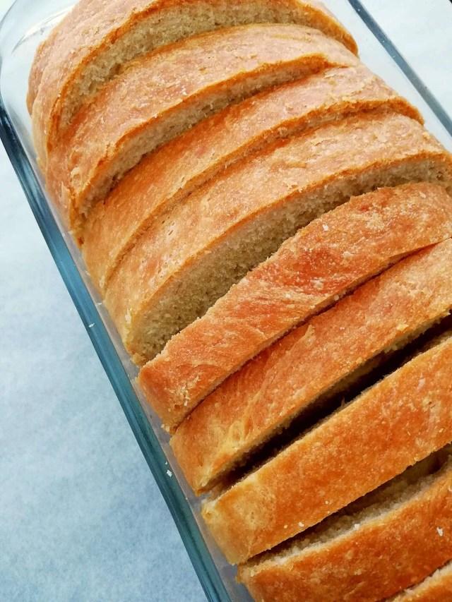 sandwich bread sliced closeup