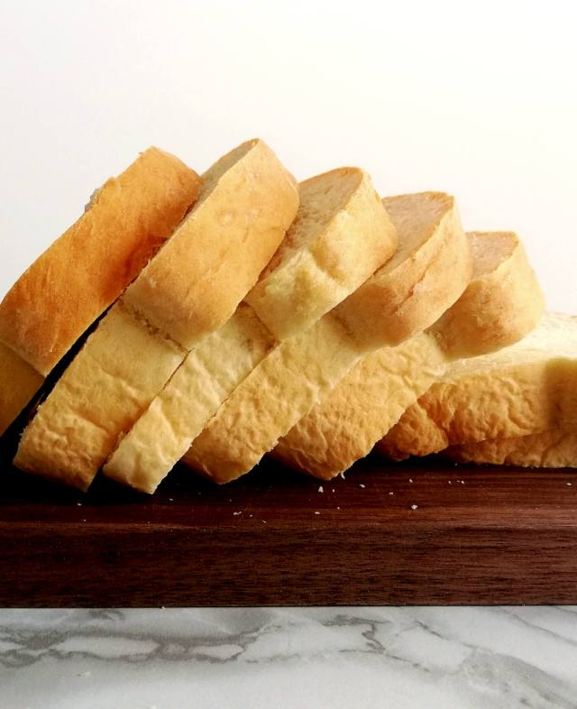 sandwich bread slices side view