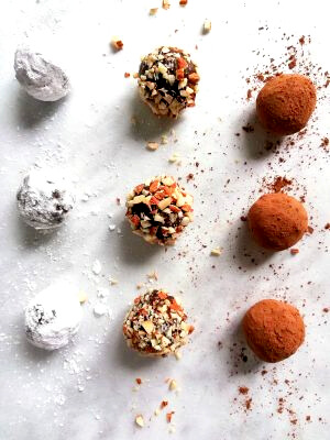 chocolate-truffles-on-parchment-paper-overhead-image