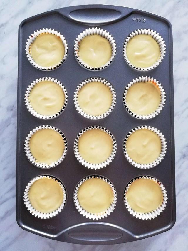 mini cheesecake baked