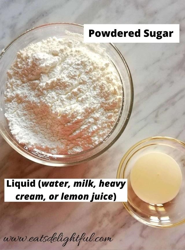 powdered sugar glaze icing ingredients
