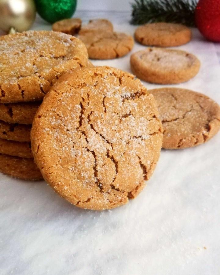 molasses cookies leaning cookie