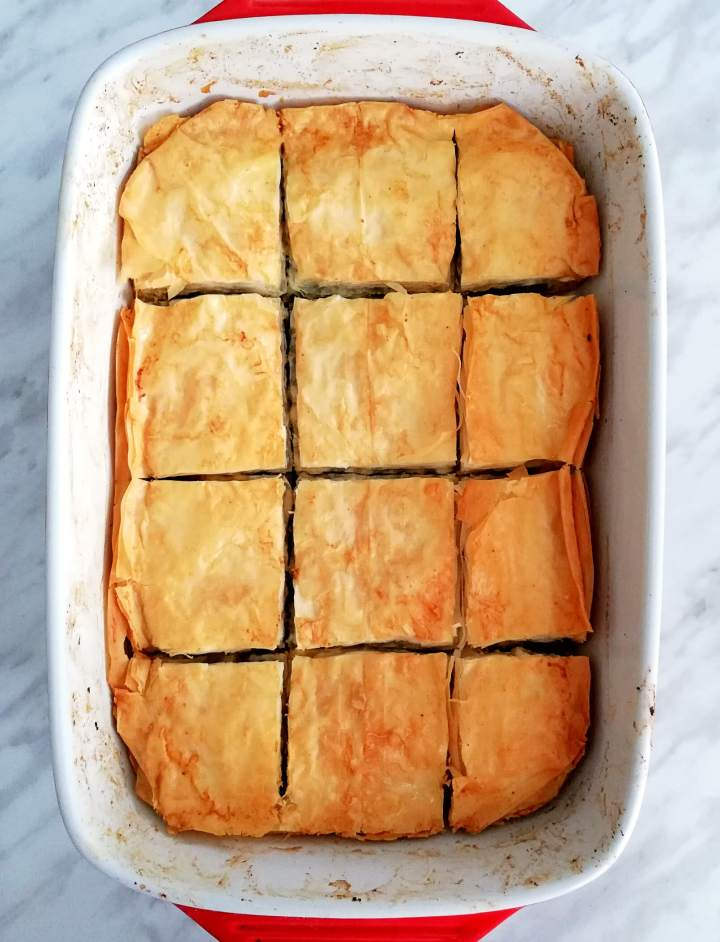 spanakopita baked overhead