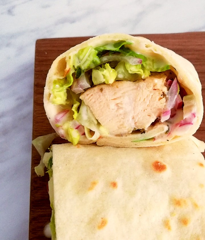 chicken wraps top side