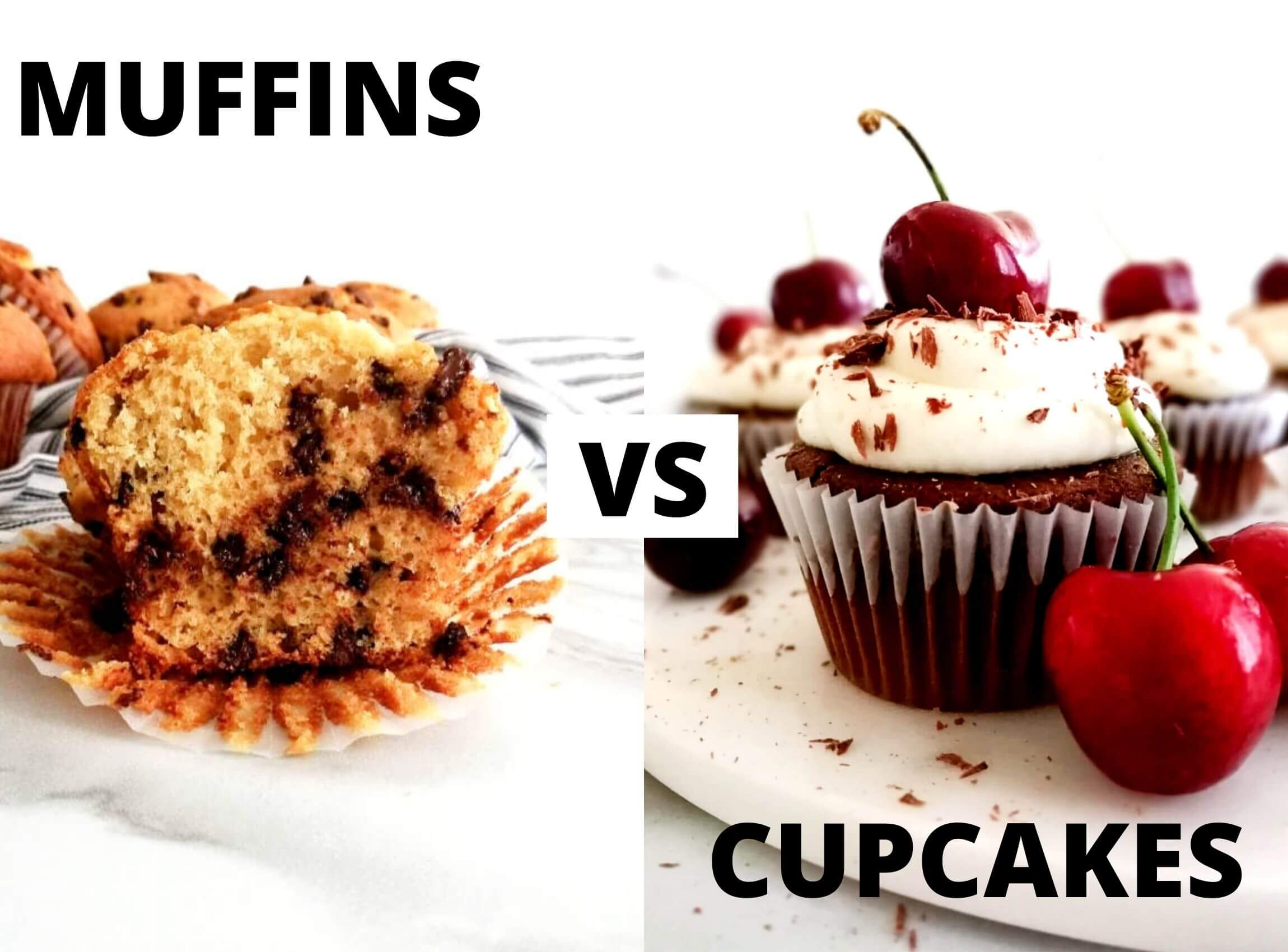What's the difference between muffins and cupcakes?