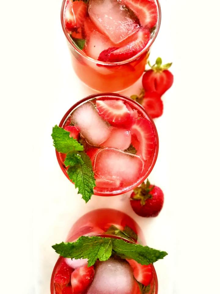 strawberry cooler overhead