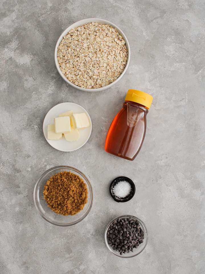 chocolate chip oat bars ingredients