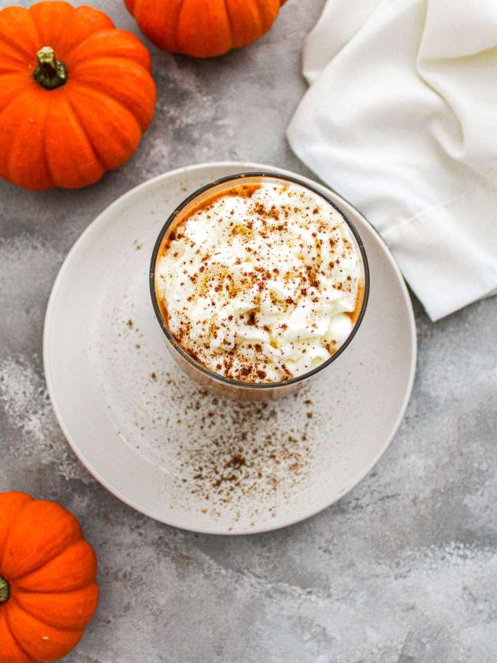 pumpkin Frappuccino overhead image