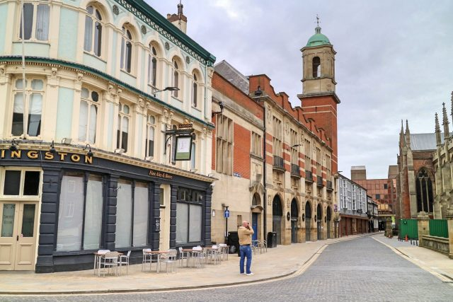 The Street Outside The Hideout Hotel, hull