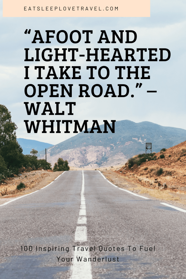 Afoot And Light-Hearted I Take To The Open Road