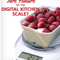 What is the Tare Feature on my Digital Kitchen Scale?