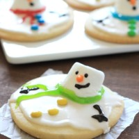 Melting Snowman Sugar Cookies