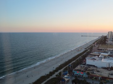 Sunset from high above the water