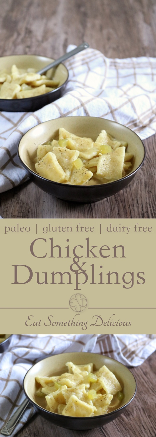 Chicken and Dumplings | Paleo chicken and dumplings that tastes just like the original. Made with nourishing, flavorful chicken bone broth. | eatsomethingdelicious.com