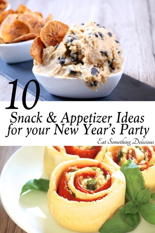 10 Snack, Appetizer, and Drink Ideas for your New Year's Party. All recipes are gluten free and dairy free. | eatsomethingdelicious.com