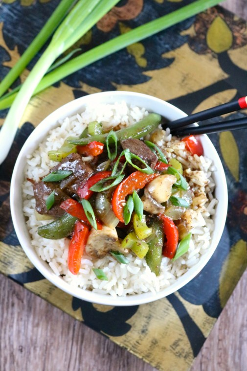 Instant Pot Chop Suey | My family recipe for chop suey converted to an Instant Pot recipe for easy, one pot cooking. Also free of soy, gluten, eggs, dairy, and is completely paleo. | eatsomethingdelicious.com