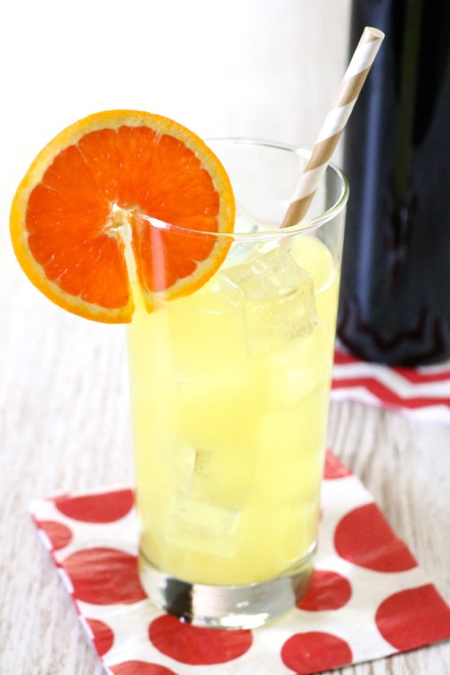 Orange Creamsicle Flavored Sparkling Water | The flavors of an indulgent orange creamsicle infused into sparkling water for a light, refreshing drink. | eatsomethingdelicious.com