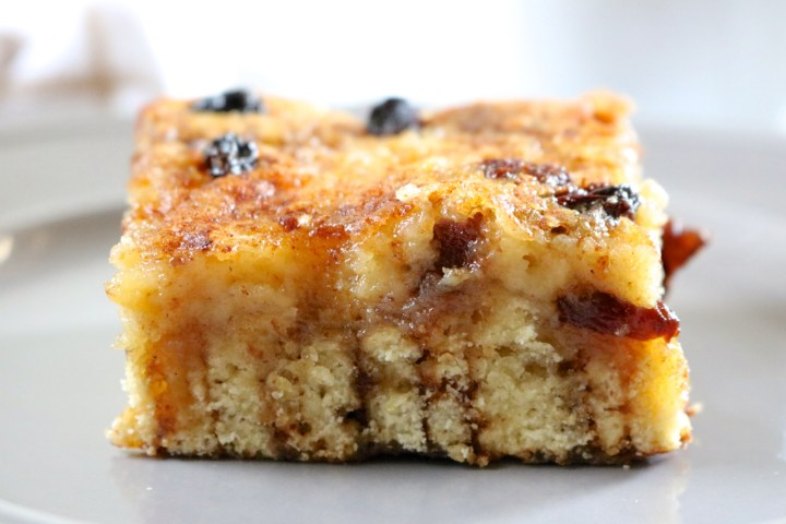 Cinnamon Roll Breakfast Cheesecake | A dairy free cinnamon raisin cheesecake with a crust made from gluten free cinnamon rolls typically served fresh for breakfast or brunch. | eatsomethingdelicious.com