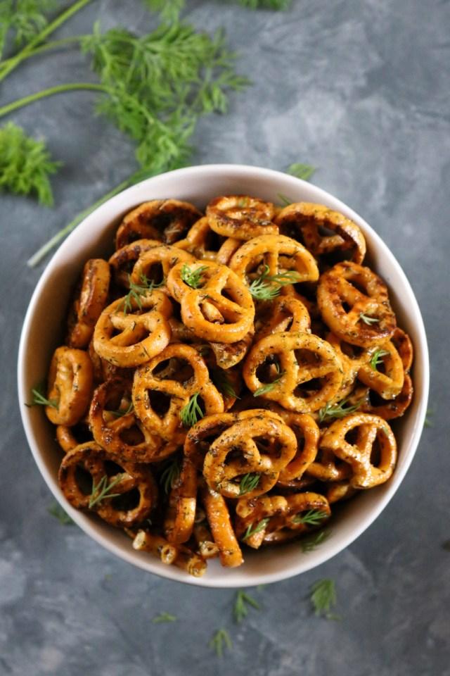 marinated pretzels
