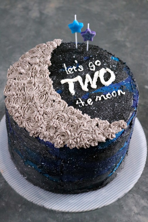 """TWO the Moon"" 2nd Birthday Cake 