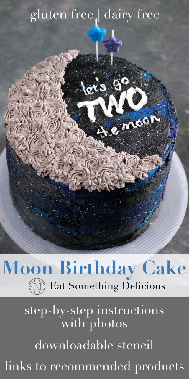 """""""TWO the Moon"""" 2nd Birthday Cake 