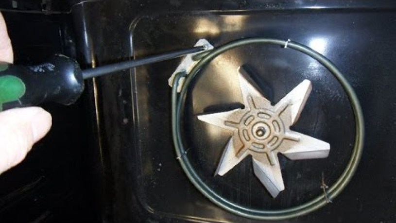 How to replace and fix an electric fan oven heater element.