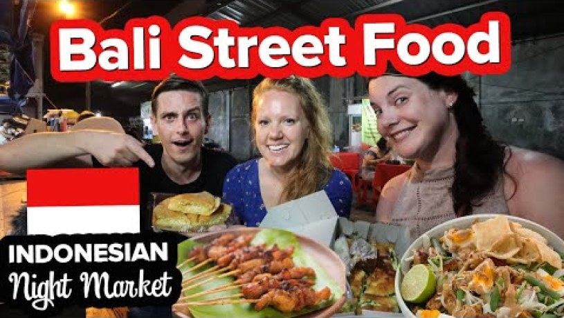 CRAZY BALI STREET FOOD! Exploring Sanur Indonesia. Cheap Indonesian Food w/ @The Endless Adventure