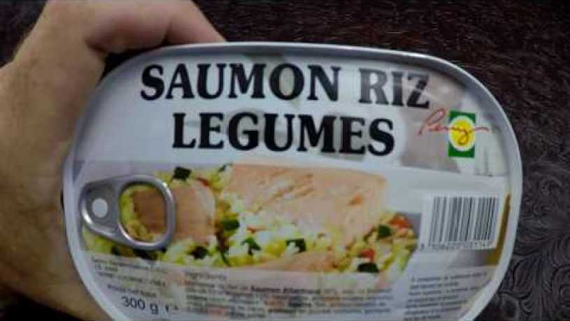 MRE Review French RCIR Salmon With Rice And Vegetables Main Entree Review in 4K