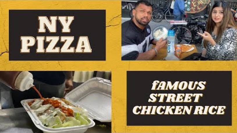 New York Style Pizza II Famous street food II Walking around East Village in New York City