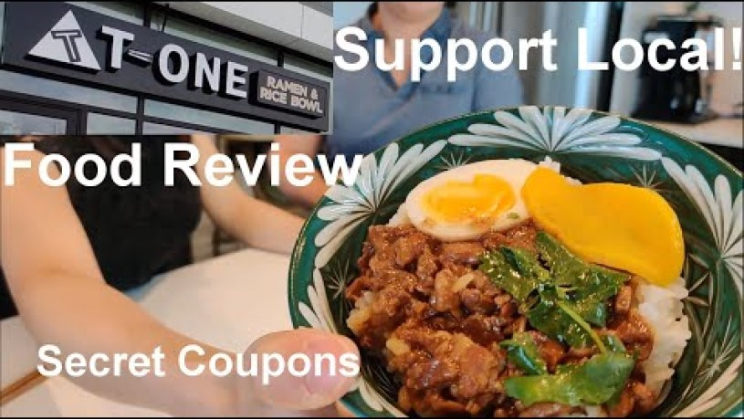 """Support Local - """"T One"""" Restaurant Kelowna Rice Bowl and Ramen Review Plus Secret Coupons Circle K!"""