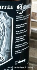"""""""Desérables"""" (Maple Ale), Microbrasserie Le Grimoire"""