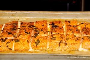 Maple Glazed Salmon with Thai Basil and Meyer Lemon