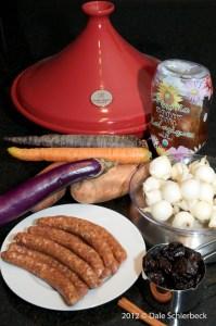 Ingredients for Merguez Tagine