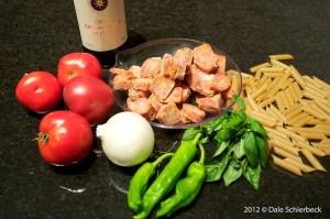 Penne Arrabiata Ingredients