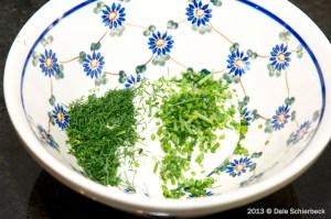 Mix the Yoghurt Feta Ingredients