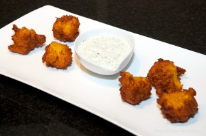 Serving squash fritters