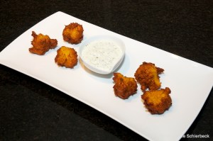 Squash Fritters plated